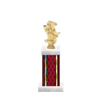 "12"" Drama Trophy with Drama Figurine, 5"" colored column and marble base."