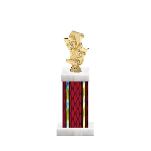 """12"""" Drama Trophy with Drama Figurine, 5"""" colored column and marble base."""