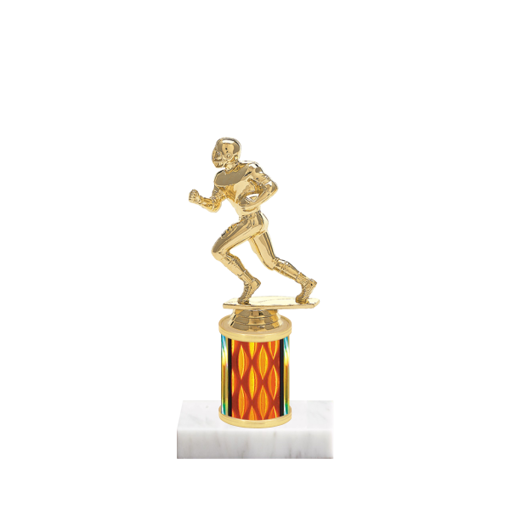 """7"""" Football Trophy with Football Figurine, 2"""" colored column and marble base."""