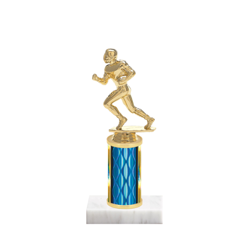 """8"""" Football Trophy with Football Figurine, 3"""" colored column and marble base."""