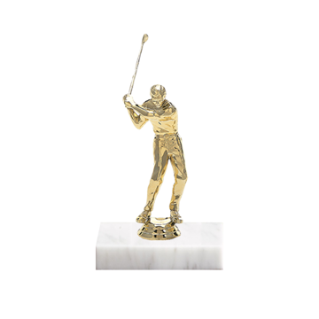 "5"" Golf Figure on Marble Base Trophy"