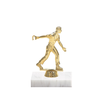 "5"" Horseshoe Figure on Marble Base Trophy"
