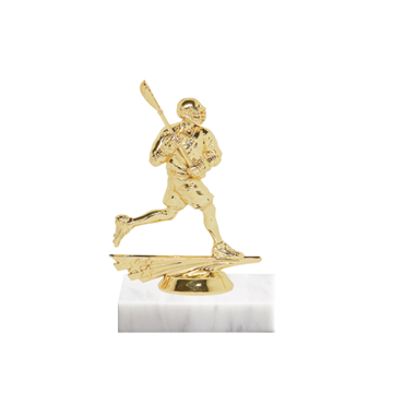 "5"" Lacrosse Figure on Marble Base Trophy"