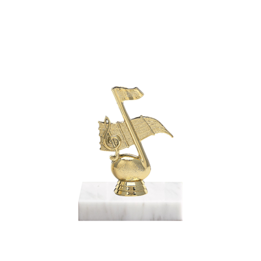 "5"" Music Figure on Marble Base Trophy"
