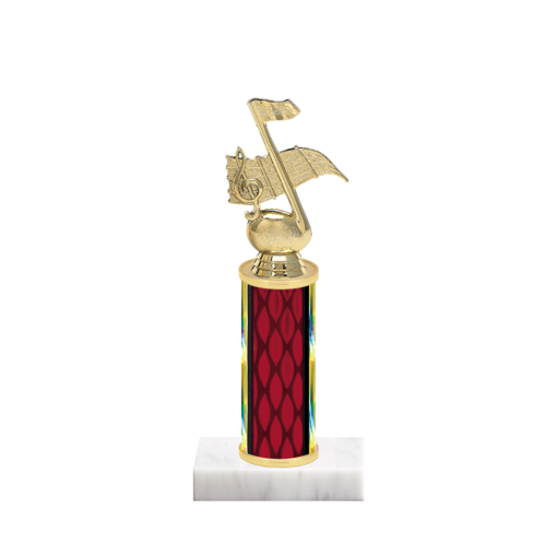 "9"" Music Trophy with Music Figurine, 4"" colored column and marble base."
