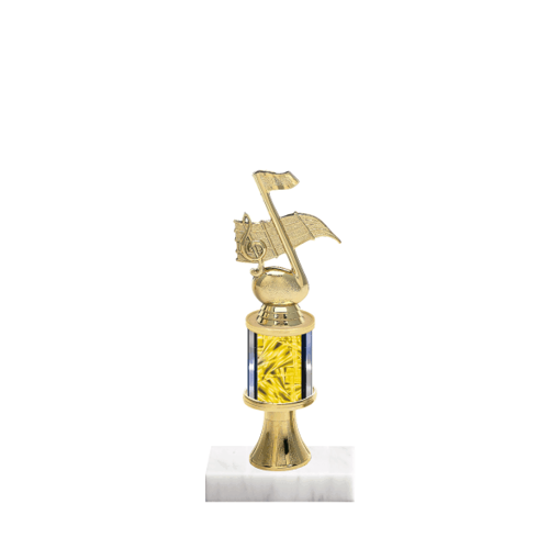 "10"" Music Trophy with Music Figurine, 2"" colored column, gold riser and marble base."