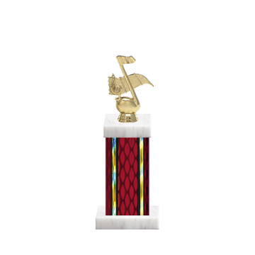 """12"""" Music Trophy with Music Figurine, 5"""" colored column and marble base."""