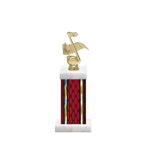 "12"" Music Trophy with Music Figurine, 5"" colored column and marble base."