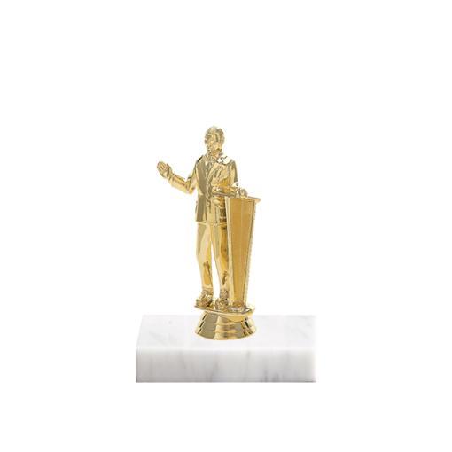 "5"" Public Speaking Figure on Marble Base Trophy"