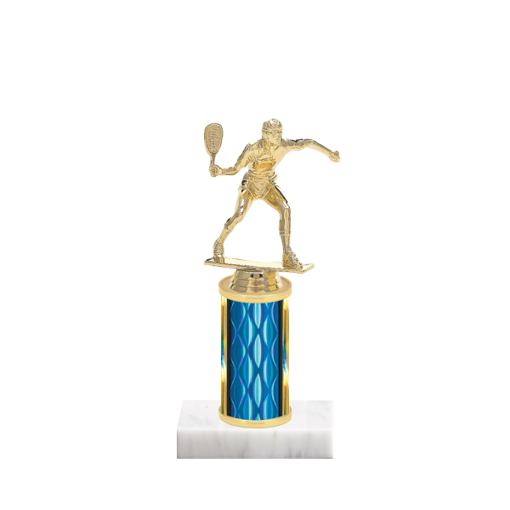 "8"" Racquetball Trophy with Racquetball Figurine, 3"" colored column and marble base."