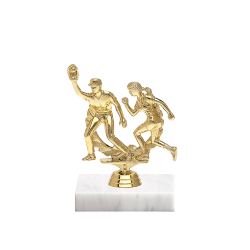 "5"" Softball Figure on Marble Base Trophy"