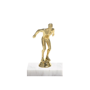 "5"" Swimming Figure on Marble Base Trophy"