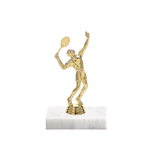 "5"" Tennis Figure on Marble Base Trophy"