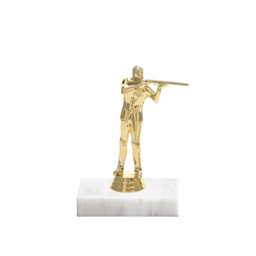 "5"" Trap & Skeet Figure on Marble Base Trophy"