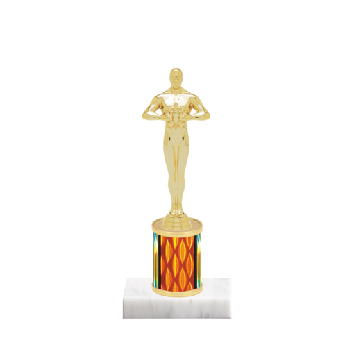 "7"" Victory Trophy with Victory Figurine, 2"" colored column and marble base."