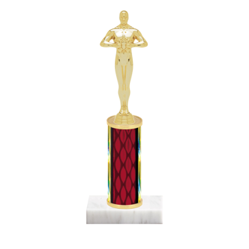 "9"" Victory Trophy with Victory Figurine, 4"" colored column and marble base."