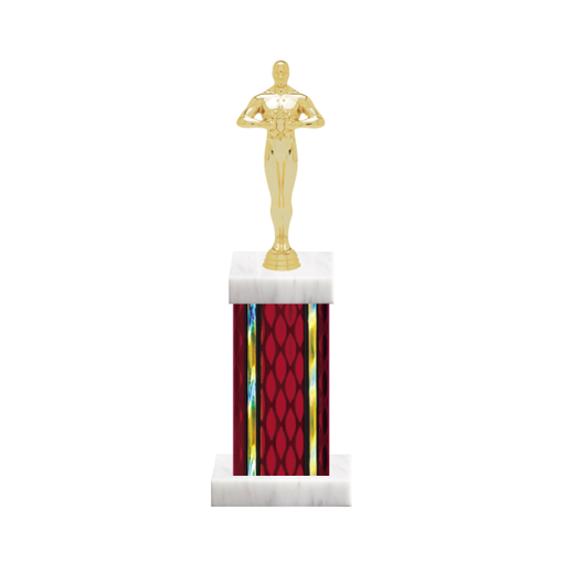 """12"""" Victory Trophy with Victory Figurine, 5"""" colored column and marble base."""