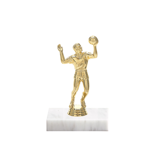 "5"" Volleyball Figure on Marble Base Trophy"