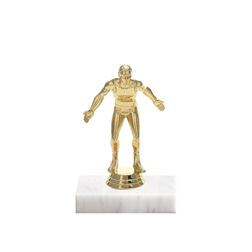 "5"" Wrestling Figure on Marble Base Trophy"