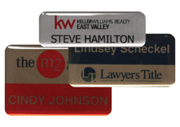 Picture for category Name Badges Epoxy Coated