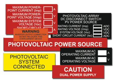 Picture for category Solar PV Warning Labels