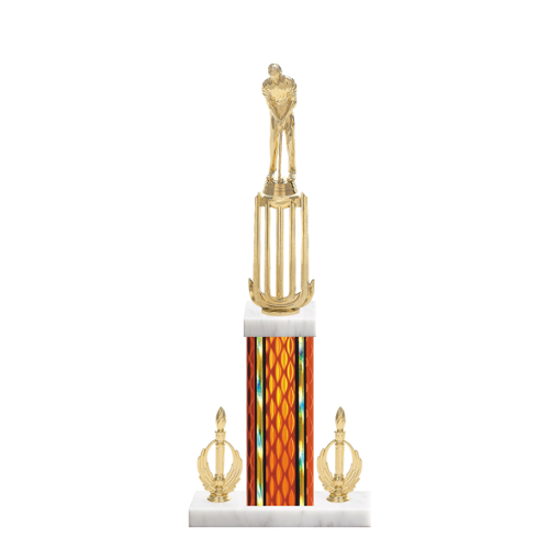 """18"""" Miniature Golf Trophy with Miniature Golf Figurine, 7"""" colored column, double side trim and marble base."""