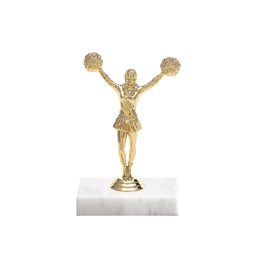 "5"" Pom-Pom Figure on Marble Base Trophy"