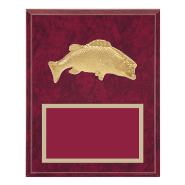 "8"" x 10"" Animal Plaque with Gold 3-D Sport Medallion"
