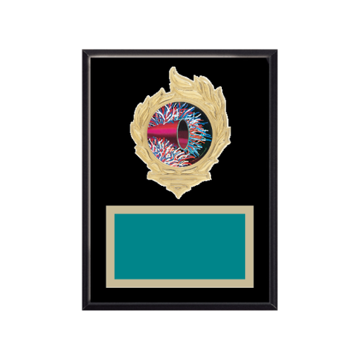 """6"""" x 8"""" Majorette Plaque with gold background, colored engraving plate, gold flame medallion holder and Majorette insert."""