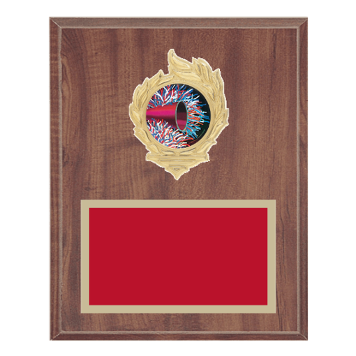 "8"" x 10"" Majorette Plaque with gold background, colored engraving plate, gold flame medallion holder and Majorette insert."