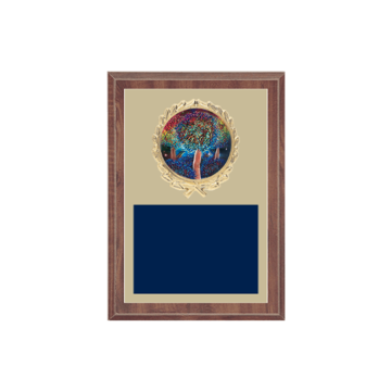 """5"""" x 7"""" Majorette Plaque with gold background plate, colored engraving plate, gold wreath medallion and Majorette insert."""