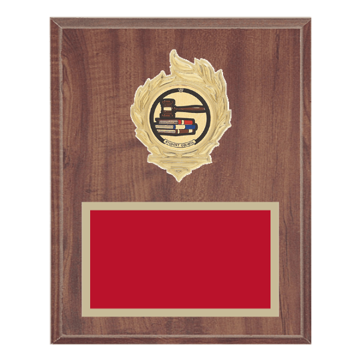 "8"" x 10"" Student Council Plaque with gold background, colored engraving plate, gold flame medallion holder and Student Council insert."