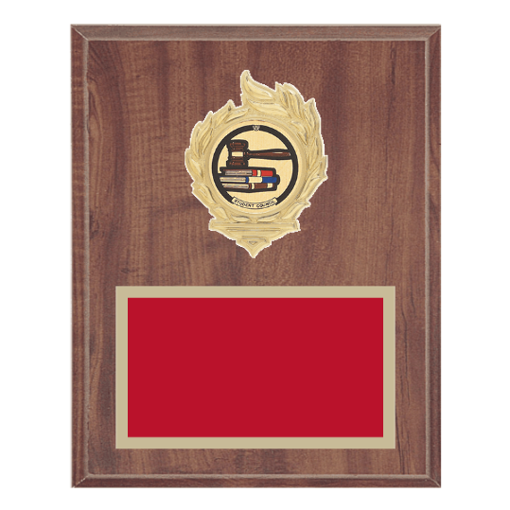 """8"""" x 10"""" Student Council Plaque with gold background, colored engraving plate, gold flame medallion holder and Student Council insert."""