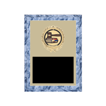 "6"" x 8"" Student Council Plaque with gold background plate, colored engraving plate, gold wreath medallion and Student Council insert."