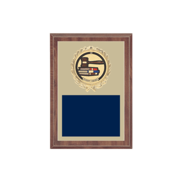 "5"" x 7"" Student Council Plaque with gold background plate, colored engraving plate, gold wreath medallion and Student Council insert."