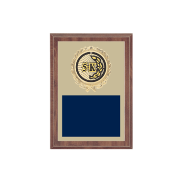 "5"" x 7"" Cross Country Plaque with gold background plate, colored engraving plate, gold wreath medallion and Cross Country insert."