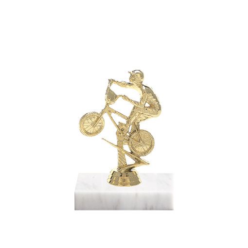 "5"" BMX Figure on Marble Base Trophy"