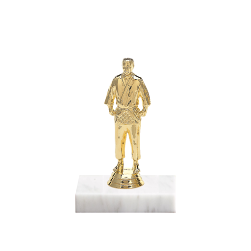 "5"" Martial Arts Figure on Marble Base Trophy"