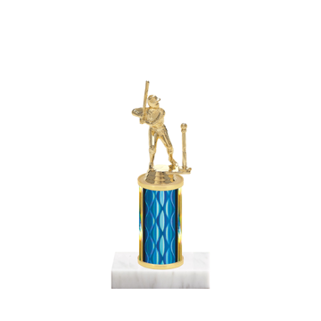 "8"" T-Ball Trophy with T-Ball Figurine, 3"" colored column and marble base."