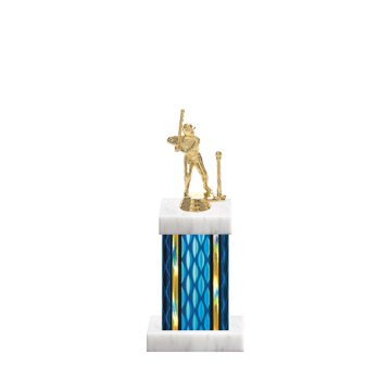 "11"" T-Ball Trophy with T-Ball Figurine, 4"" colored column and marble base."
