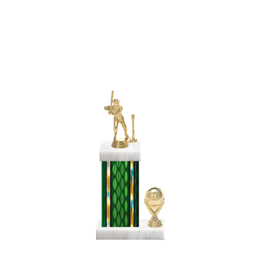 """13"""" T-Ball Trophy with T-Ball Figurine, 5"""" colored column, side trim and marble base."""