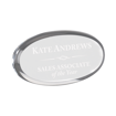 Clear oval shaped acrylic paperweight