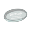 Jade oval shaped acrylic paperweight