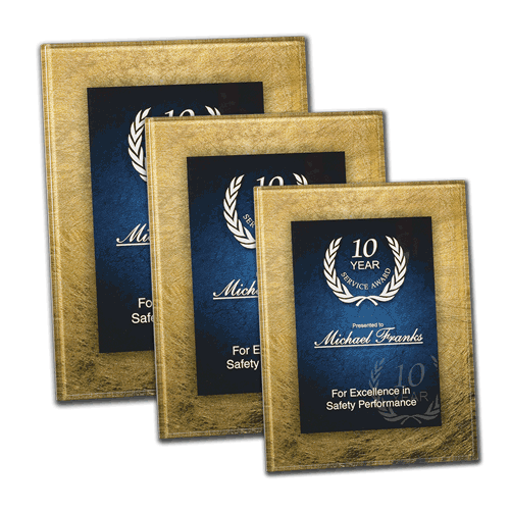 Azure Acrylic Art Award Plaque with easel back  shown three sizes
