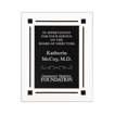 Black Floating Acrylic Award Plaque with clear acrylic and black engraving area