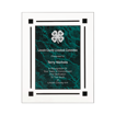 Green Marble Floating Acrylic Award Plaque with clear acrylic and green marbleized engraving area