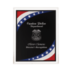 Stars & Stripes Acrylic Award Plaque with clear beveled acrylic and American flag theme