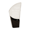 Black Lunar Acrylic Award with clear acrylic and crescent shaped black accented base