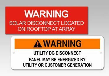 Picture for category Warning Solar Panel Tags