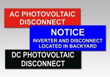 Picture for category Disconnect Solar Tags